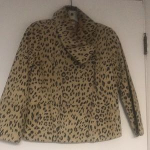 Chico's size button high neck jacket